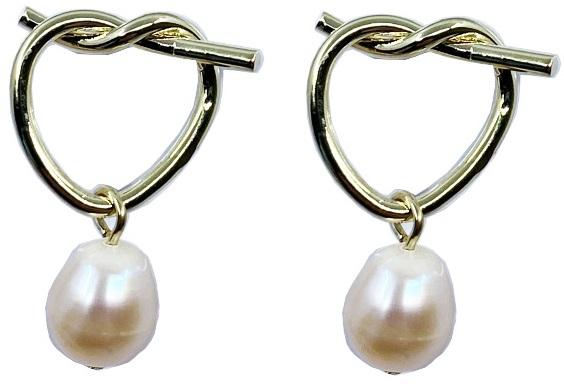 Cercei Fashion Pearl by Borealy, placati cu aur galben 0