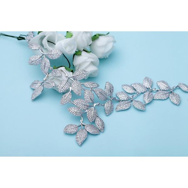 Set Colier si Cercei Leaf Luxury by Borealy-big