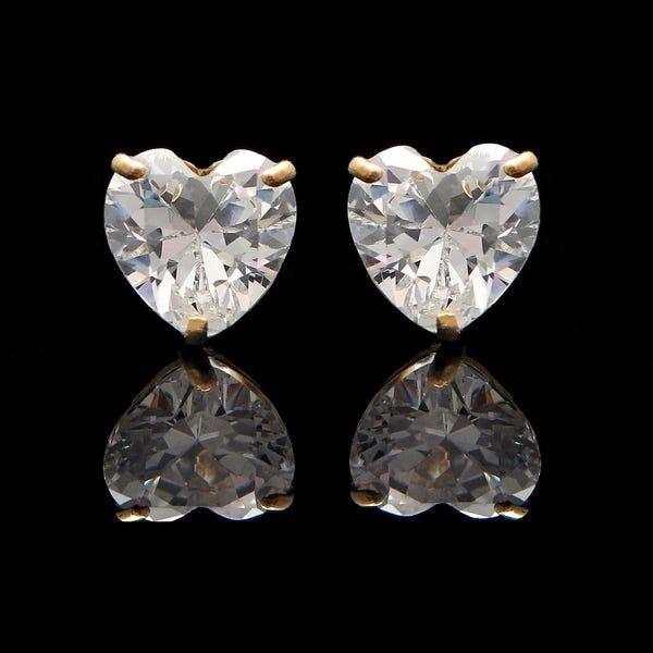 Cercei Sapphire Heart Gold 1