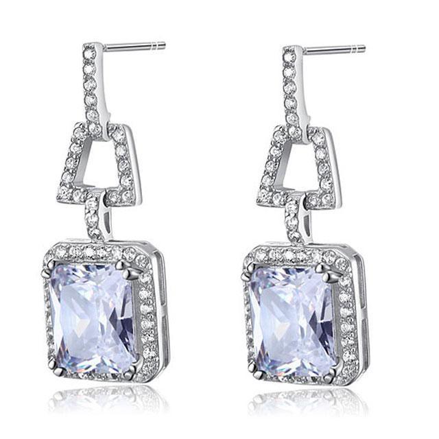 Cercei Borealy Argint 925 Simulated Diamonds 4 Carat-big