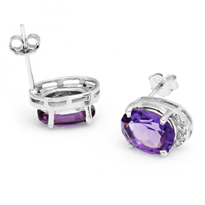 Cercei 4 Carate Ametist Luxury & 925 Silver-big
