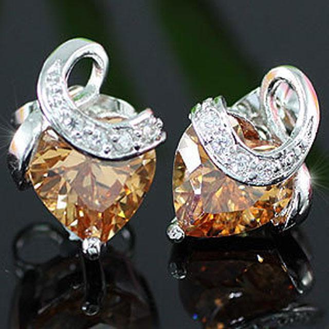 Cercei Borealy Simulated Sapphire Amber Amour-big