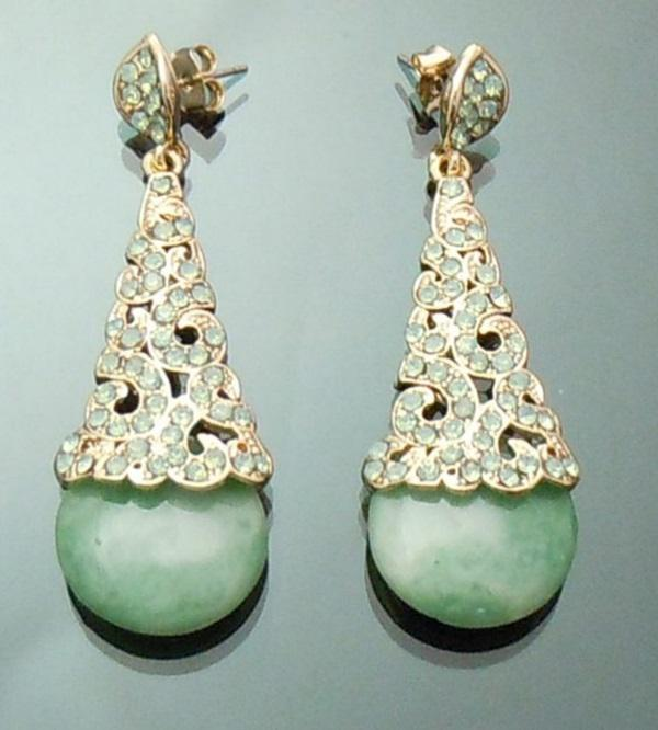 Cercei Borealy Aventurine & Opal Chandelier Green 2
