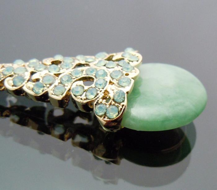 Cercei Borealy Aventurine & Opal Chandelier Green 3