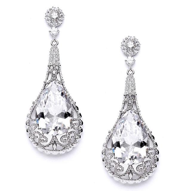 Cercei Borealy Crystal Bold Laced Pear 0