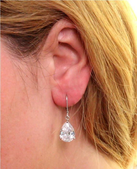 Cercei Borealy Argint 925 Simulated Diamonds Drop 1