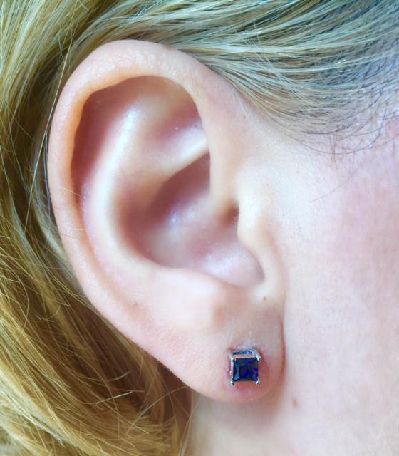 Cercei Borealy Safir 1 carat Argint 925 Princess 1