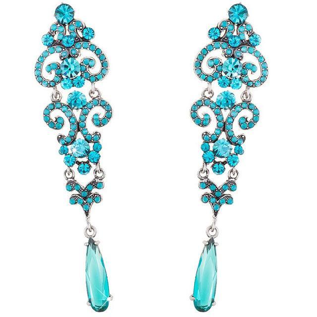 Cercei Chandelier Crystal Blue 0