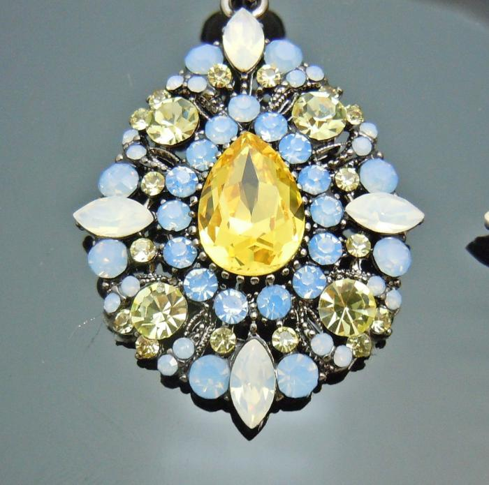 Cercei Borealy Citrine & Opal Chandelier Mysterious-big