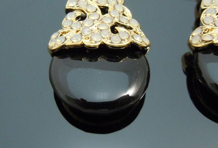 Cercei Chandelier Black Onix & White Opal 2