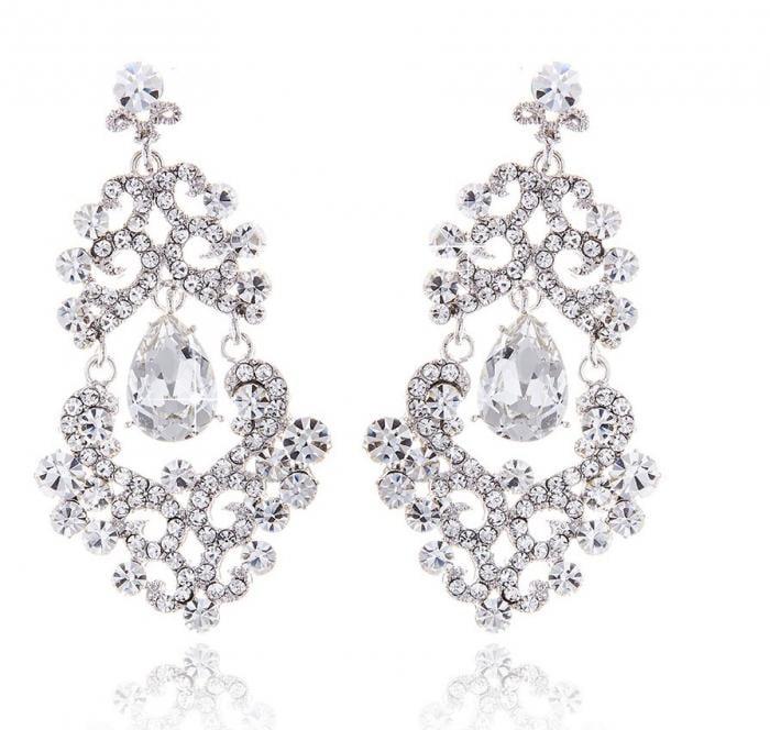 Cercei Chandelier Oriental Mini Diamonds-big