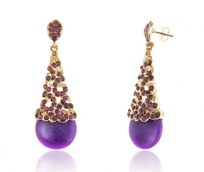 Cercei Chandelier Purple & Opal 1