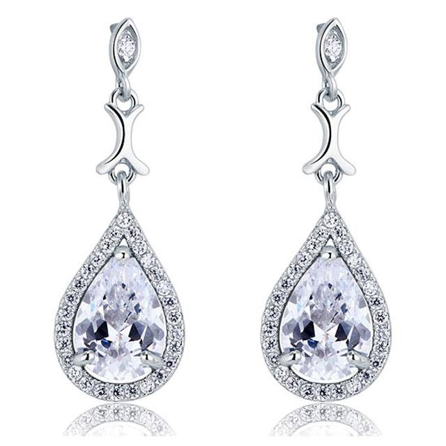 Cercei Borealy Argint 925 Simulated Diamond Delicate Bride-big
