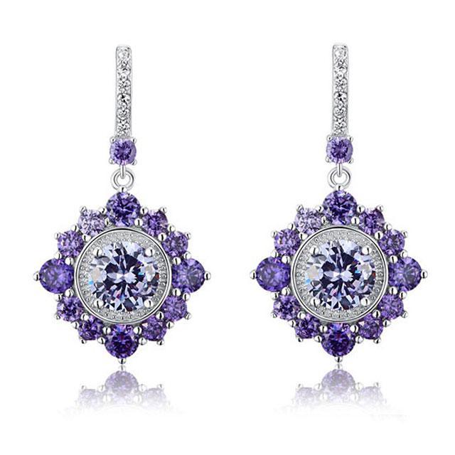 Cercei Borealy Argint 925 Purple Sapphire Dentelle D'Orient 0