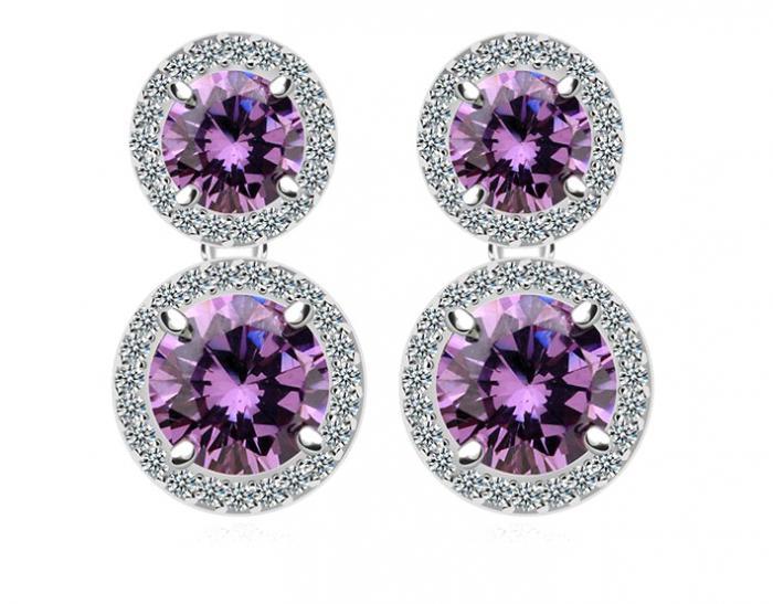 Cercei Borealy Ametist Double Purple-big
