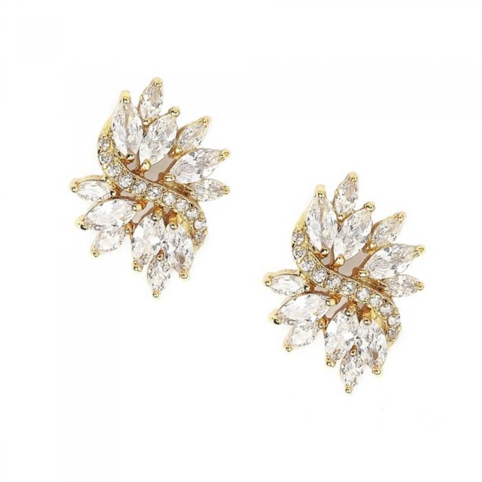 Cercei Borealy Simulated Diamonds Dolce Crystals Gold 0