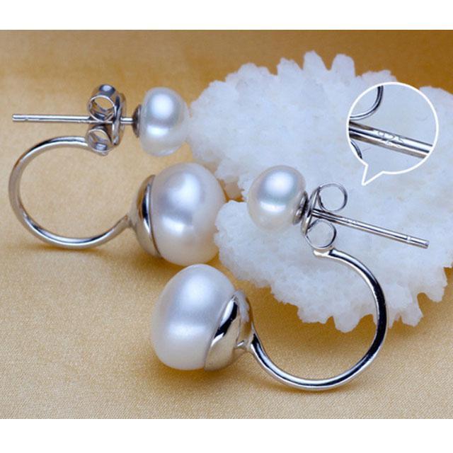 Cercei Double Perle Naturale Silver 925 2