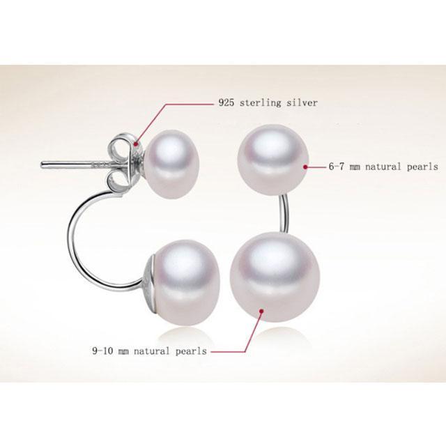 Cercei Double Perle Naturale Silver 925 4