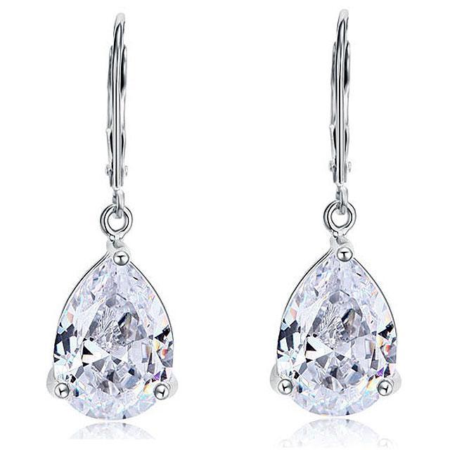 Cercei Borealy Argint 925 Simulated Diamonds Drop 0