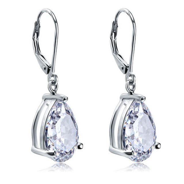 Cercei Borealy Argint 925 Simulated Diamonds Drop 2