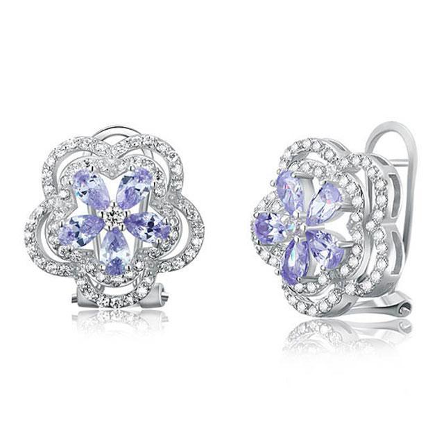 Cercei Borealy Argint 925 Sapphire Eden Light Purple 2