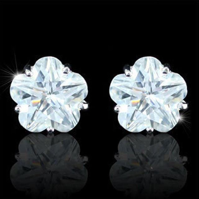 Cercei Borealy Sapphire Studs Flower Cut 2