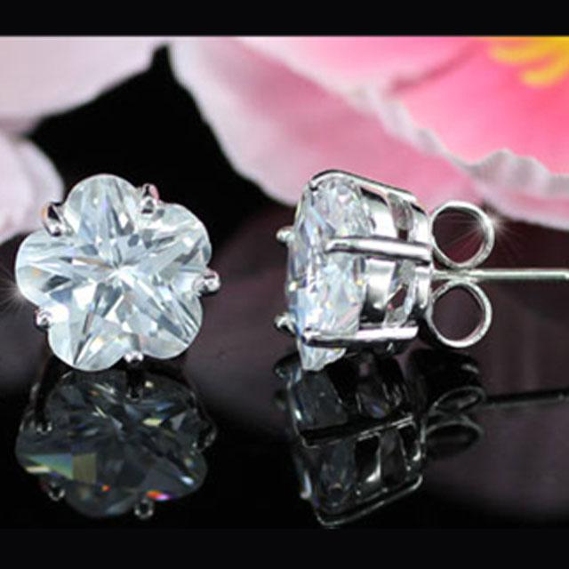 Cercei Borealy Sapphire Studs Flower Cut 5