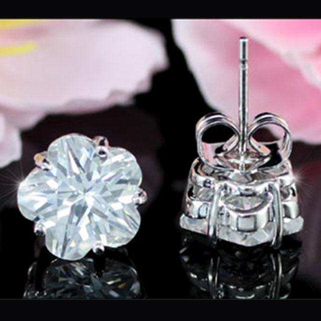 Cercei Borealy Sapphire Studs Flower Cut 4