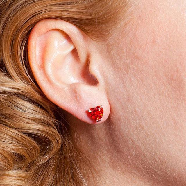 Cercei Borealy Sapphire Heart Red-big