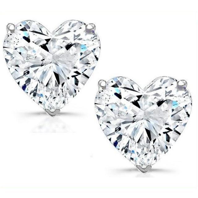 Cercei Borealy Argint 925 Sapphire Heart 0