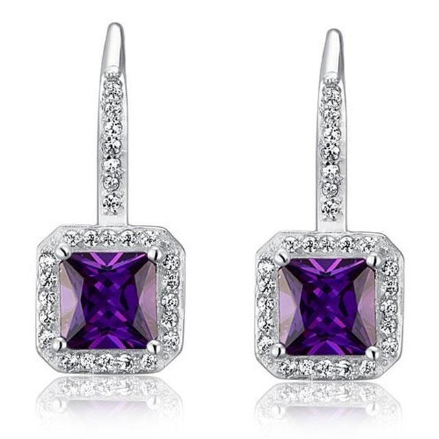 Cercei Borealy Argint 925 Simulated Sapphire Lady Purple 0
