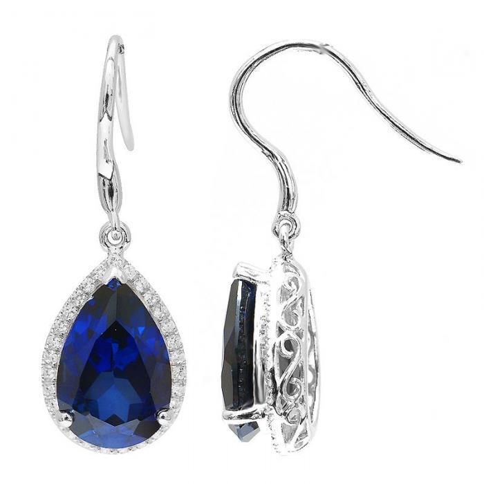 Cercei Luxury Safir 8 carate Argint Borealy 2