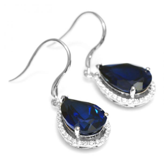 Cercei Luxury Safir 8 carate Argint Borealy 4
