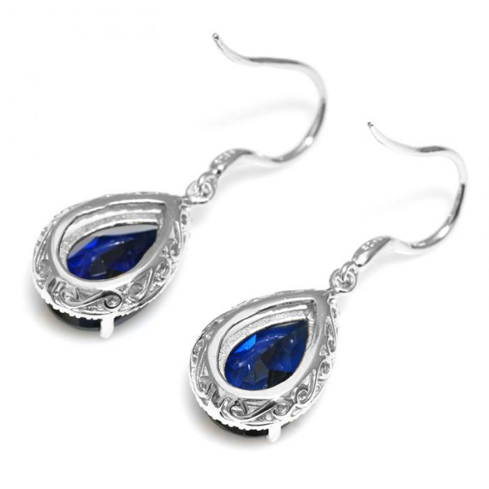 Cercei Luxury Safir 8 carate Argint Borealy 3