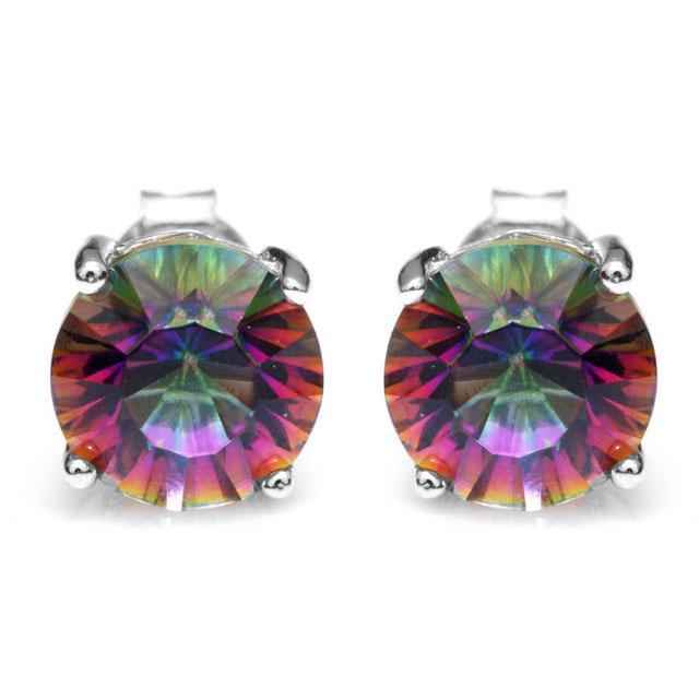 Cercei Mistic Topaz Rainbow Round 3 carate 0