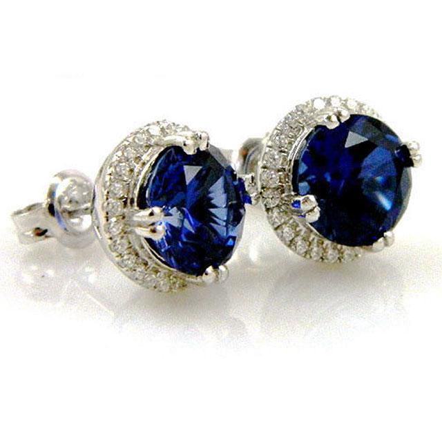 Cercei Borealy Argint 925 Blue Safir One Ocean 5 carate 4
