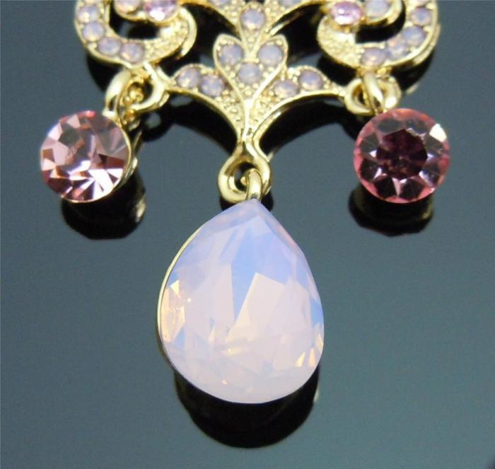 Cercei Chandelier Opal Pink by Borealy-big