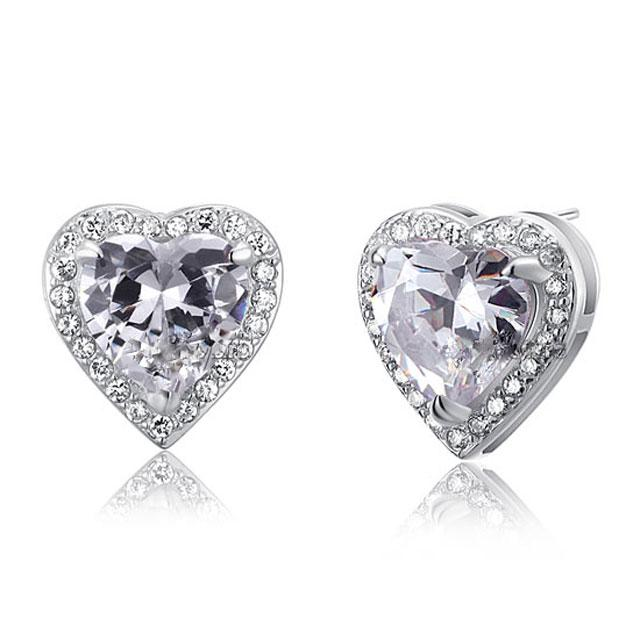 Cercei Borealy Argint 925 Diamond Passion for Love-big