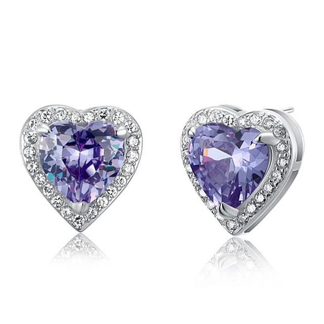 Cercei Borealy Argint 925 Sapphire Purple Passion for Love 2