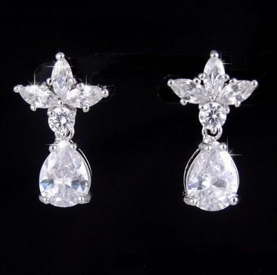 Cercei Princess White Diamonds-big