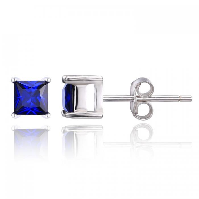 Cercei Borealy Safir 1 carat Argint 925 Princess 2