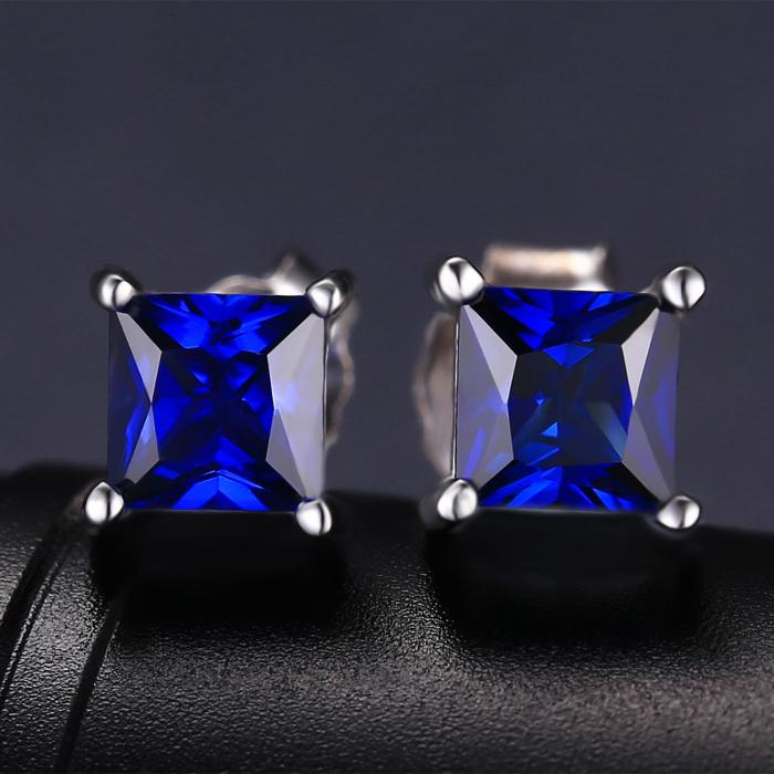 Cercei Borealy Safir 1 carat Argint 925 Princess 3