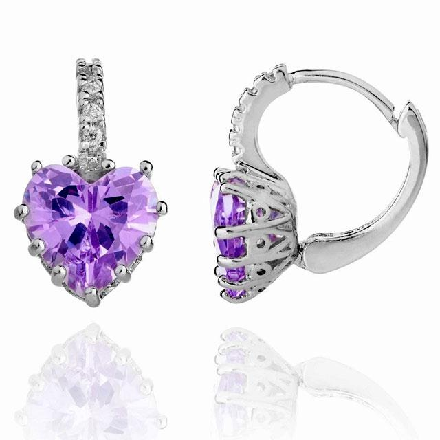 Cercei Borealy Sapphire Heart Purple 1