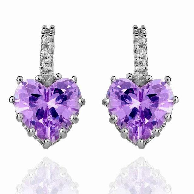 Cercei Borealy Sapphire Heart Purple-big
