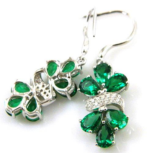 Cercei şi medalion Glamour Emerald by Borealy-big