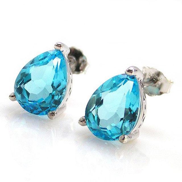 Cercei Topaz Natural Blue London 3,20 carate-big