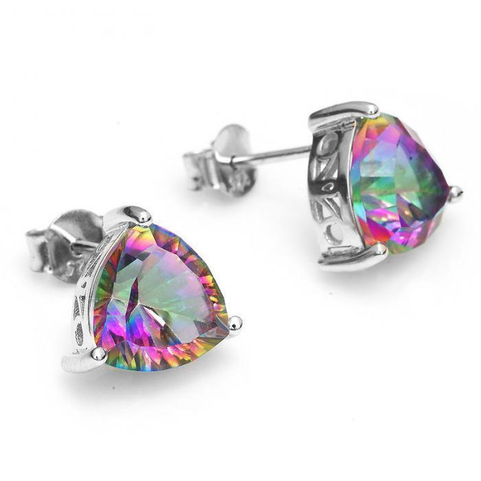 Cercei Triangle Rainbow Topaz 5 carate Argint 925-big