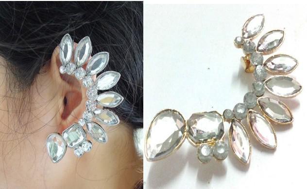 Cercel Borealy Ear Cuff Punk Crystal-big