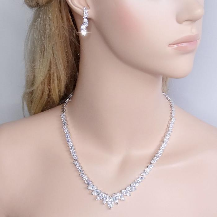 Charming Marquise Diamonds Colier şi Cercei-big