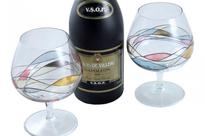 Cognac Glasses & Louis de Villerc Gift Set for Two-big